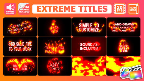 Extreme Titles Apple Motion Template