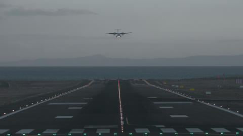 Landing at dawn Footage