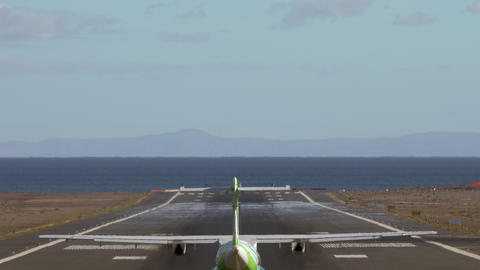 A green planes tail Footage