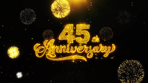45th Happy Anniversary Wishes Greetings card, Invitation,... Stock Video Footage