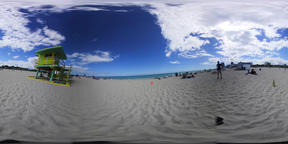 360 vr video of a colorful lifeguard tower in world famous Miami Beach VR 360° Video