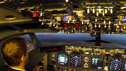Civil aircraft cockpit Live Action