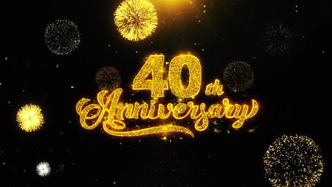 40th Happy Anniversary Wishes Greetings card, Invitation,... Stock Video Footage