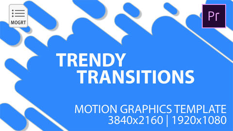Trandy Transitions Motion Graphics Template