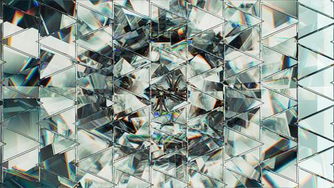 Diamond shine macro rotate seamless loop with kaleidoscope effect Animation