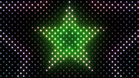 LED Wall 2 Star B Dr HD Stock Video Footage