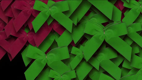 red & green bow-knot background,chrismas &... Stock Video Footage