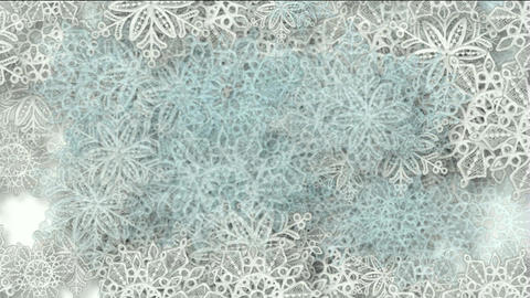 snowflake as chrismas background Animation