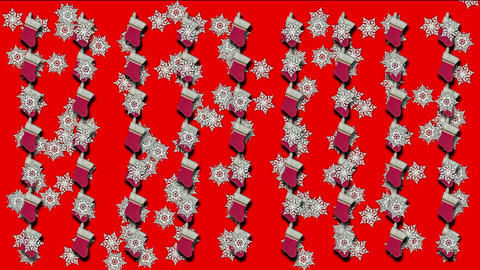 chrismas socks & rotate snowflake background Animation