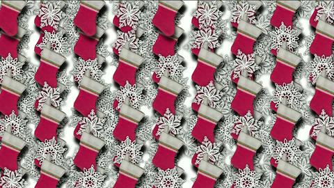 chrismas socks & rotate snowflake background Animation