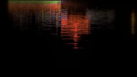 reflection on lake with splendid lighting Stock Video Footage