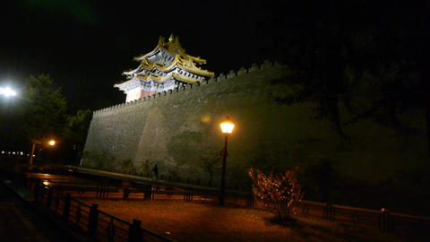 Panoramic of Beijing Forbidden City turret in night.Gorgeous palace.the Great Wa Footage