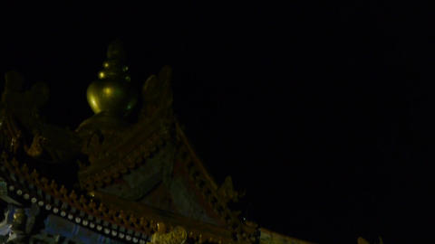 Beijing Forbidden City turret in night.Gorgeous... Stock Video Footage