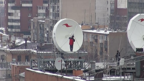 satellite aerial Stock Video Footage