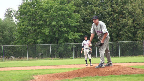 Game of baseball Stock Video Footage