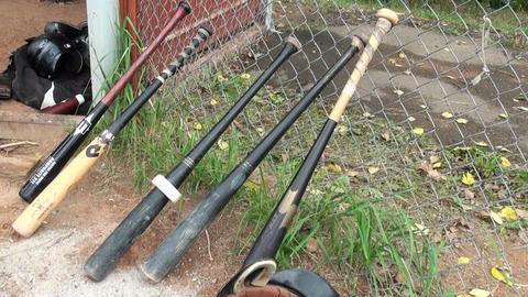 Baseball bats Stock Video Footage