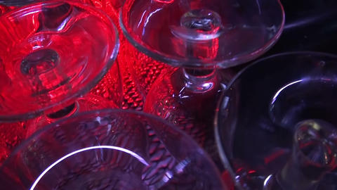 bar glasses Stock Video Footage