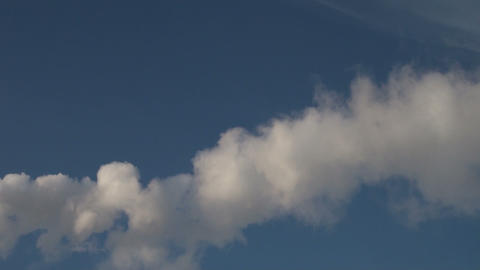 White smoke in the sky Stock Video Footage
