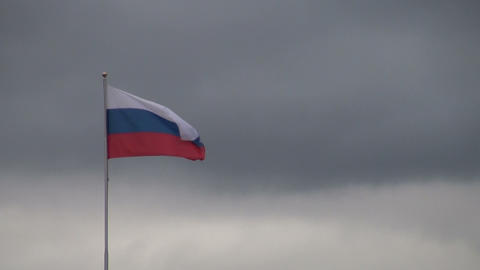 Flag in the wind Stock Video Footage