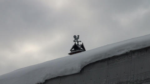 Weather-vane on the roof Stock Video Footage