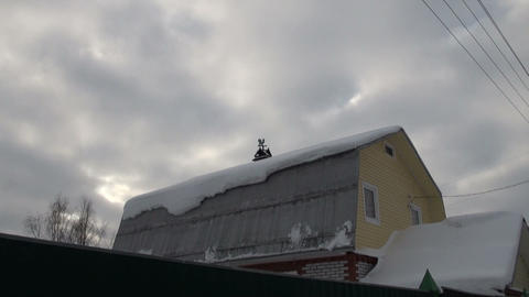 Weather-vane on the roof Footage