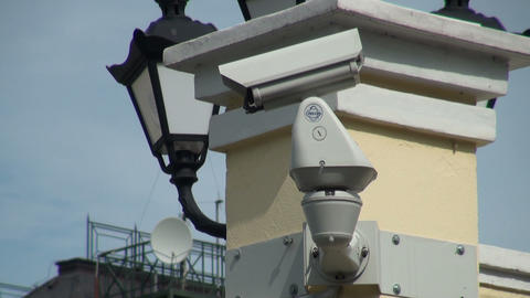 security camera Stock Video Footage