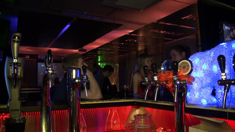 Night club, visitors Stock Video Footage