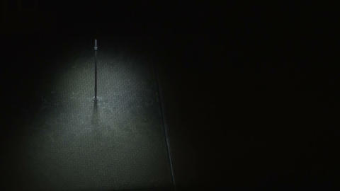 The lamp post at night Stock Video Footage