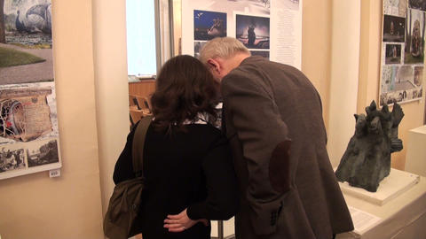 Visitors to the exhibition Footage
