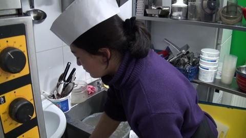 Dishwasher woman Stock Video Footage