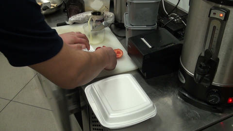 The chef at work Stock Video Footage