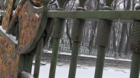 Beautiful the bridge's grating Stock Video Footage