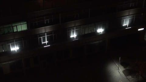 The night, the Light in the window Stock Video Footage