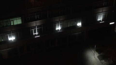The night, the Light in the window Footage