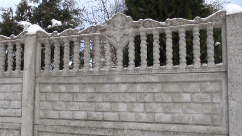 Stone fence Stock Video Footage