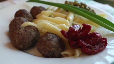 food rotates Stock Video Footage