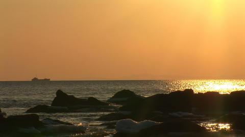 sea sunset Stock Video Footage
