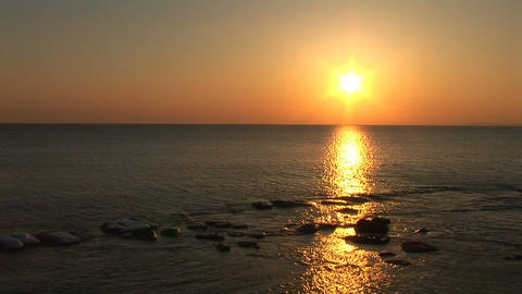 sea sunset Stock Video Footage