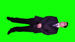 Bodyguard Watching Full Body Greenscreen 48 Stock Video Footage