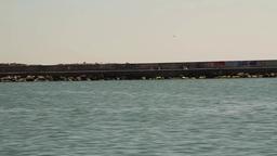 Ferry from Kadikoy to Eminonu Stock Video Footage