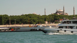 Ferry from Kadikoy to Eminonu Footage