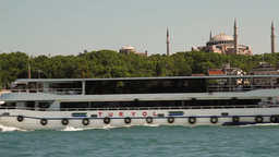 Ferry from Kadikoy to Eminonu Stock Video Footage