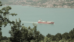 View of a chemical tanker ship Stock Video Footage