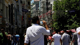 People walking at Taksim Footage