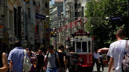 People walking at Taksim Stock Video Footage