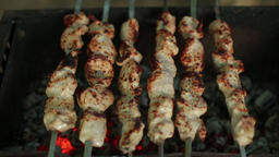 Meat cooked on coals Footage