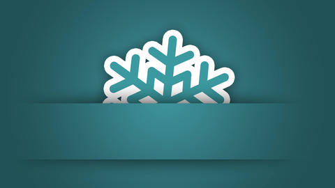 Snowflake Christmas digital greeting card gift design element After Effects Template