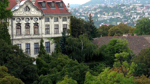 Budapest. Architecture, old houses, streets and neighborhoods Footage