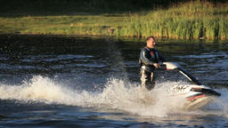 Man on jet ski Footage