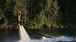 Fly board rider Footage